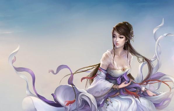 Картинка девушка, ветер, игра, арт, fantasy, персонаж