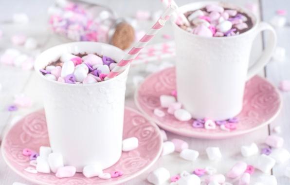 Картинка чашки, какао, маршмеллоу