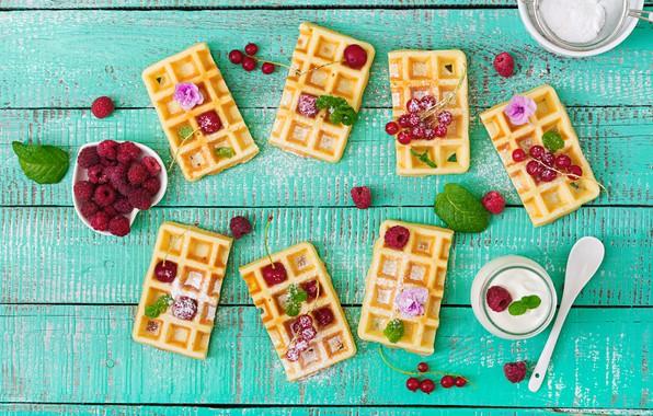 Картинка ягоды, малина, fresh, wood, вафли, berries, raspberry, wafer