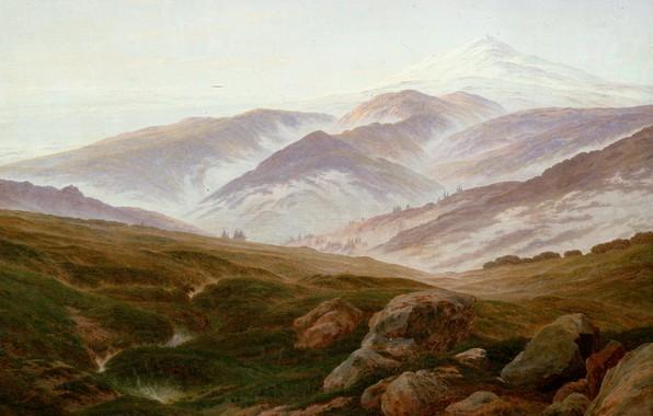 Картинка горы, картина, Каспар Давид Фридрих, Воспоминания Райзенгебирге