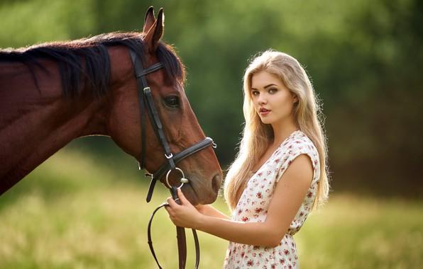 Картинка девушка, лошадь, Czech Republic, Milan R, Lucka, Beautiful Lucka, beautiful horse