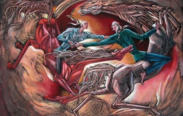 Картинка белый конь, Состязание, Айбек Бегалин, 2004г, джигиты, красный конь