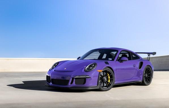 Картинка Porsche, Purple, Black, GT3RS, Wheels