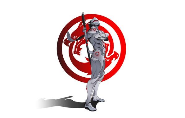 Картинка sword, logo, game, armor, minimalism, weapon, katana, ninja, digital art, artwork, warrior, white background, simple …