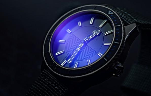 Картинка синий, стрелки, часы