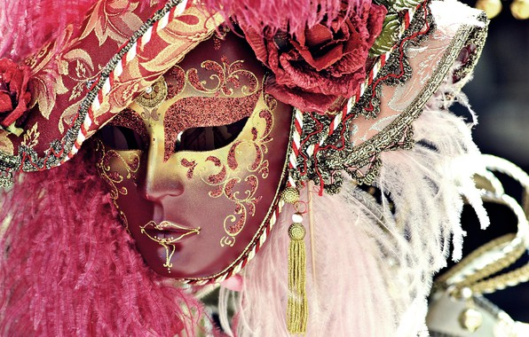 Картинка перья, маска, карнавал