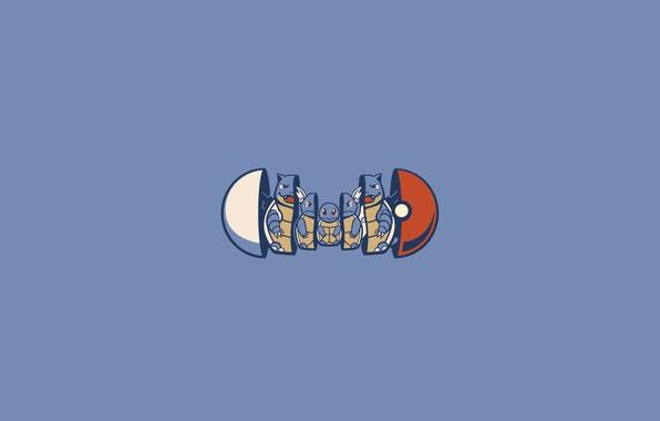 Картинка покемон, pokemon, pokeball, squirtle, покемоны, матрешка, сквиртл, покебол, wartortle, blastoise, бластойс, вартотл