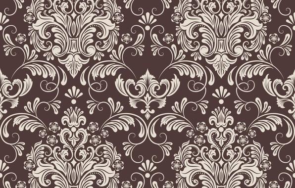 Картинка цветы, ретро, фон, обои, узор, текстура, винтаж