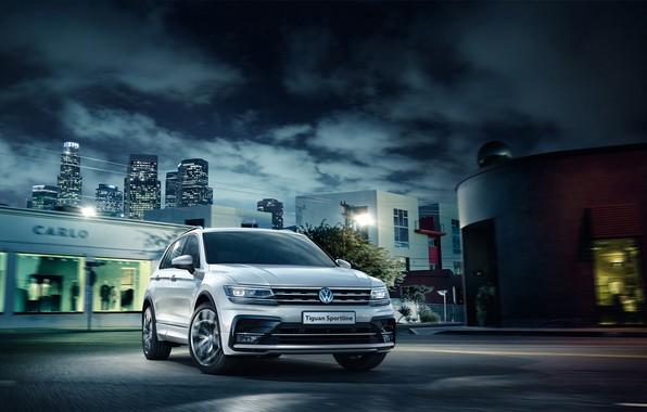 Фото обои Volkswagen, фольксваген, Tiguan, Sportline, тигуан