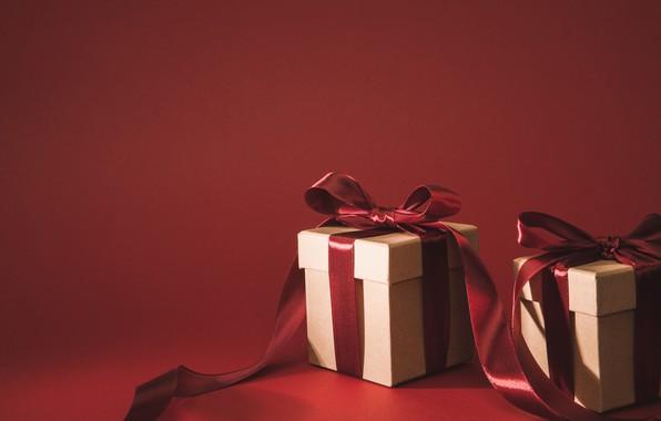 Картинка фон, подарок, лента, Праздник, бантик