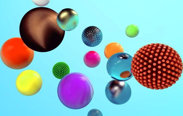 Картинка абстракция, шар, сфера, объем