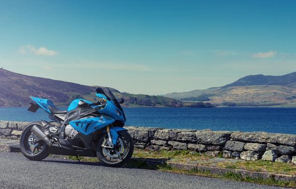 Картинка BMW, Суперспорт, БМВ, Мотоцикл, Blue, Supersport, S1000 RR