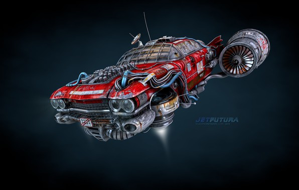 Картинка аппарат, Jet Futura, Flying Eldorado concept