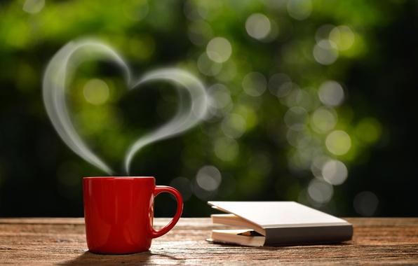 Картинка кофе, утро, чашка, love, hot, heart, romantic, coffee cup, good morning