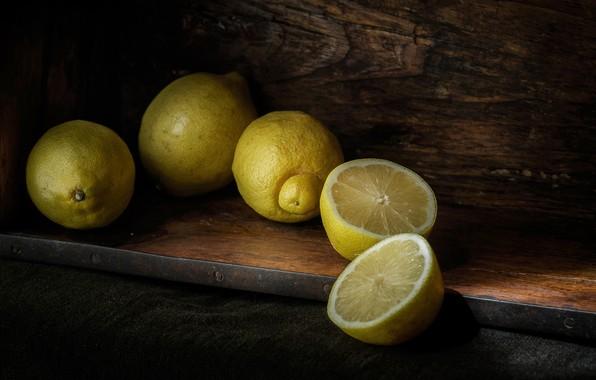 Картинка цитрусы, половинки, лимоны