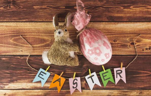 Картинка Кролик, Яйцо, Пасха, Праздник