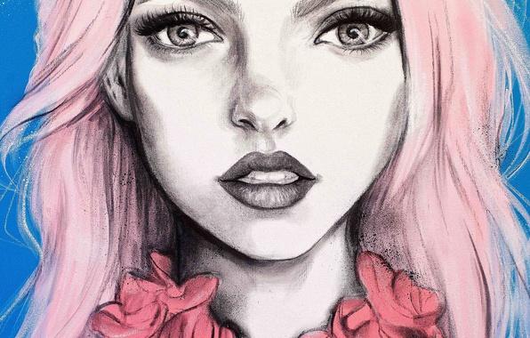 Картинка девушка, рисунок, портрет, Pippa McManus