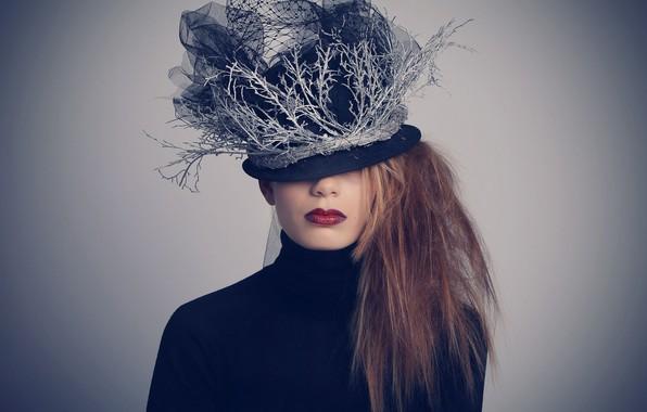 Картинка девушка, стиль, шляпка