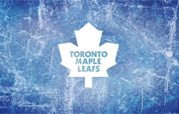 Картинка лед, эмблема, Торонто, кленовый лист, нхл, nhl, Toronto Maple Leafs, хоккейная команда