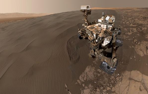 Фото обои Марсианская научная лаборатория, Кьюриосити, планета, марсоход, НАСА, Марс