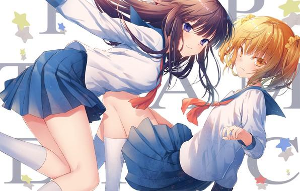 Картинка девушки, аниме, арт, Pop Team Epic
