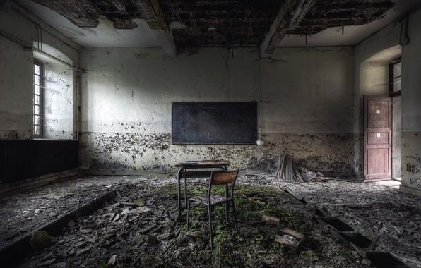 Картинка стул, доска, парта, школа