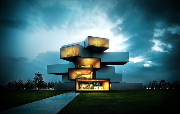Картинка дизайн, строение, Modern House