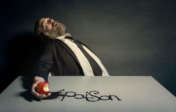 Картинка человек, яблоко