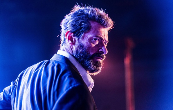 Картинка cinema, Wolverine, Hugh Jackman, X-Men, Logan, blue, man, Marvel, face, hero, film, suit, mobile, yuusha