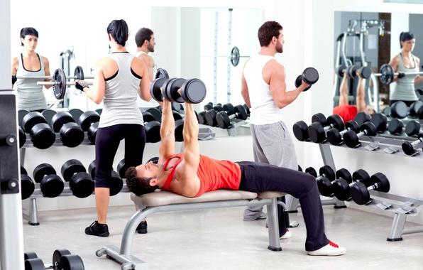 Картинка фитнес, muscle, мышцы, штанга, тренировка, атлет, workout, fitness, gym, бодибилдер, training, weight, Gym, dumbbells, bodybuilder, …