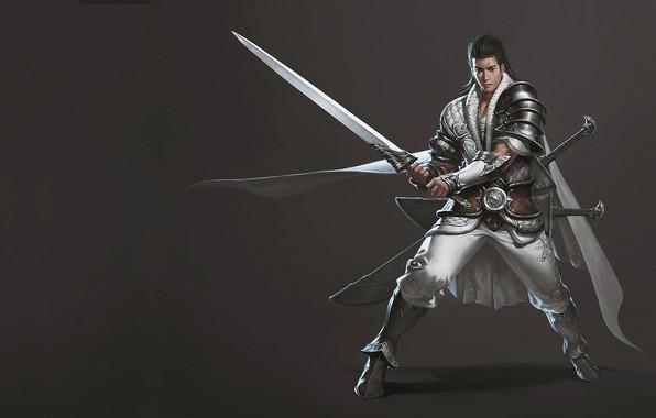 Картинка воин, арт, дизайн костюма, junggeun yoon, The Oriental Knight