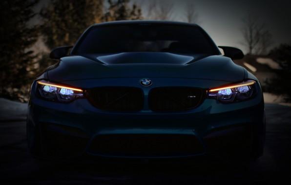Картинка BMW, Blue, Front, F80, Sight, LED
