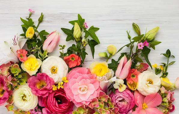 Картинка цветы, розы, wood, pink, flowers, beautiful, пионы, композиция, floral