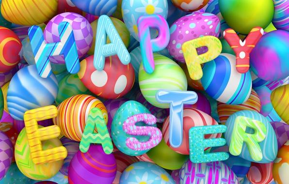 Картинка графика, яйца, colorful, Пасха, happy, holidays, design, Easter, eggs