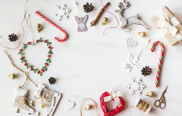 Картинка Новый Год, Рождество, white, vintage, merry christmas, decoration, xmas