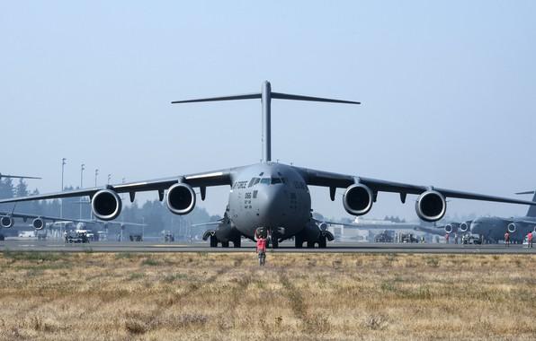 Картинка aircraft, military, air force, Boeing C-17 Globemaster III, 001, cargo and transport aircraft
