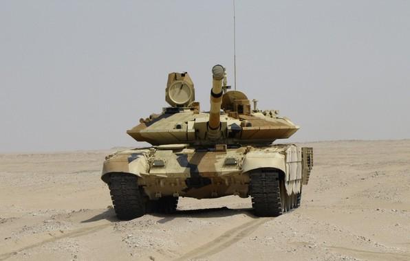 Картинка песок, танк, броня, ОБТ, Прорыв, Т-90 МС, УВЗ, оружие России