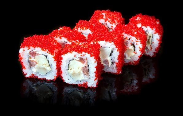 Картинка еда, рыба, кухня, икра, суши, роллы, морепродукты, японская