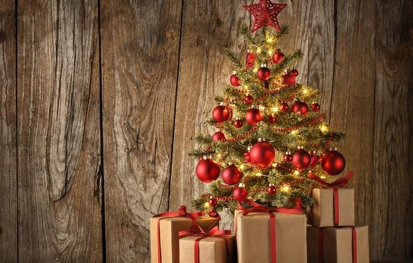 Картинка шарики, украшения, шары, доски, елка, Новый Год, Рождество, подарки, ёлка, balls, wood, merry christmas, decoration, …