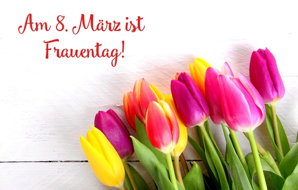 Картинка цветы, праздник, букет, тюльпаны, 8 марта, женский день