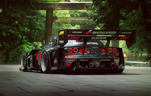 Картинка Mazda, RX-7, Time, Attack, Rear, by Khyzyl Saleem