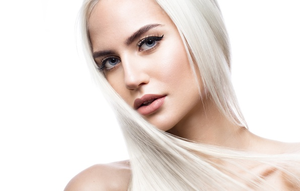 Картинка Blonde, look, make up, hairstyle