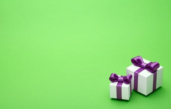 Картинка подарок, лента, бант, box, present, gift, bow, puple, satin
