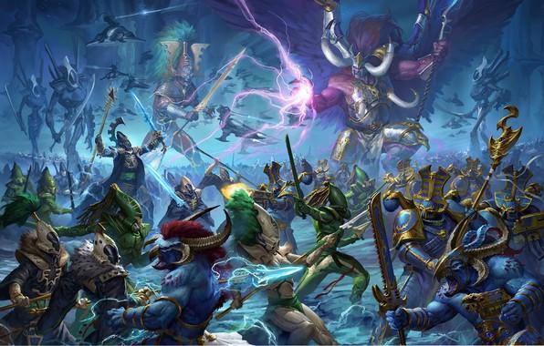 Картинка demon, avatar, chaos, space marine, eldar, prince, Warhammer 40 000, Tzeentch, w40k, primarch, Thousand Sons, …