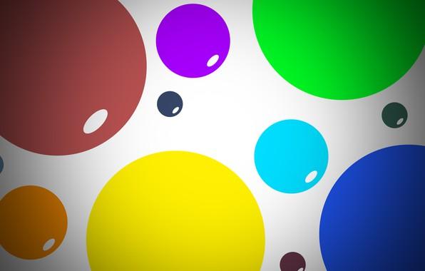 Картинка шарики, синий, красный, абстракция, зеленый, фон, шары, текстура, light, balls, texture, широкоформатные обои, abstract wallpapers, …
