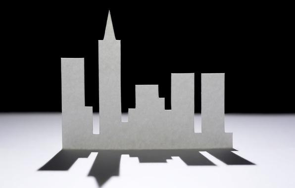 Картинка город, бумага, фон