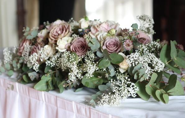 Картинка цветы, розы, компазиция