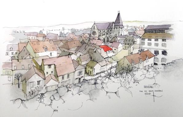 Картинка город, фон, рисунок