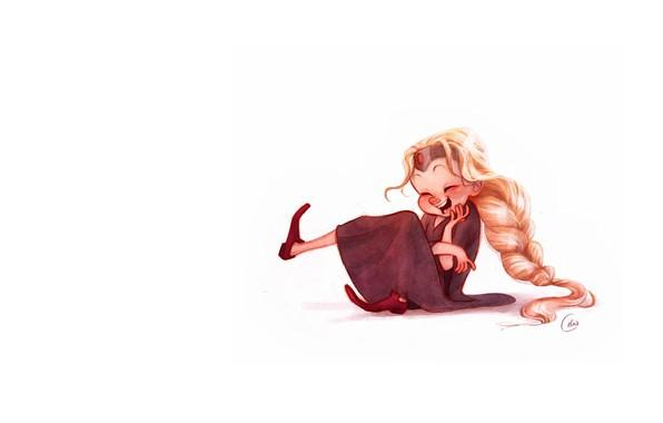 Картинка настроение, арт, девочка, Art, детская, Celia Kaspar