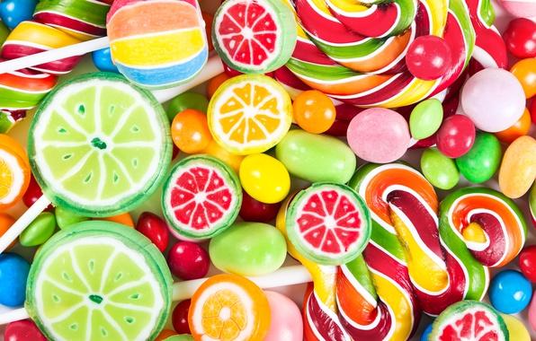 Картинка colorful, конфеты, сладости, леденцы, sweet, candy, lollipop